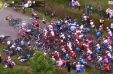 Spectator causes mass fall at Tour de France