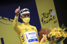 Alaphilippe emerges from crash carnage with Tour de France lead