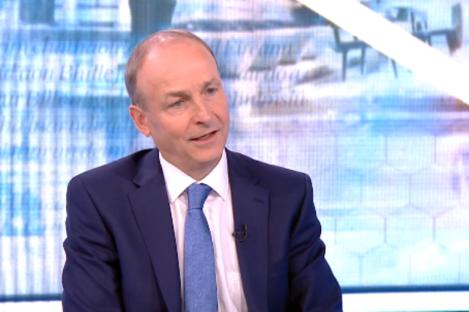 Taoiseach Micheál Martin speaking to RTÉ's The Week In Politics