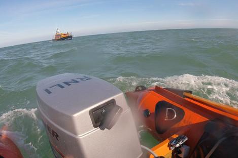 An RNLI image from the scene near Wicklow Head.