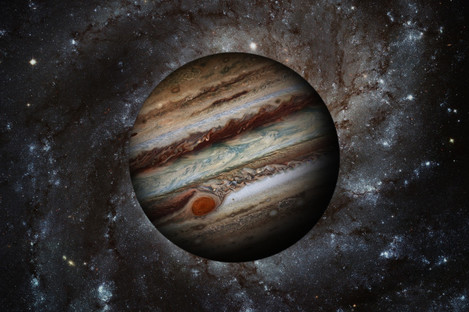 Jupiter, the fifth plant from the sun