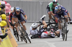 Tim Merlier claims victory on another drama-filled Tour de France stage