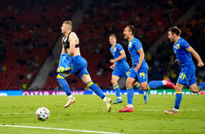 Ukraine strike in 121st minute to knock out 10-man Sweden and set up England clash