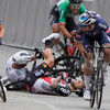 Woman arrested as French police investigate Tour de France crash