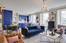 Modern luxury meets period features at this apartment in a historic Blackrock building