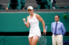 World number one Barty progresses at Wimbledon but third seed Svitolina dumped out