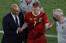 Belgium waiting on Kevin De Bruyne and Eden Hazard fitness ahead of Italy clash