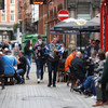 Legislation enacted to allow drinking outside pubs and restaurants