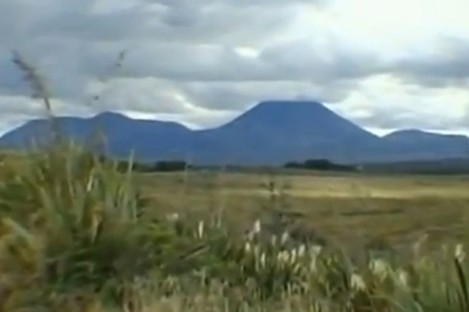 The volcano before eruption