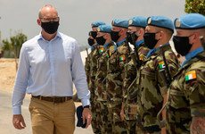 Coveney visits Irish troops serving with United Nations in Lebanon