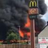 Huge fire at coffin makers in Strabane as witnesses report lightning strike