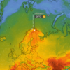 Heatwave hits Nordic countries, with 34C recorded in the Arctic