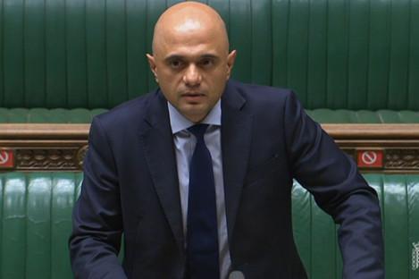 British Health Secretary Sajid Javid