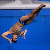 Ever wondered what happens if you slip on an Olympic diving board?
