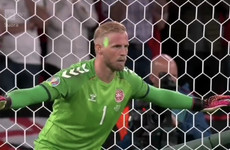 England charged by Uefa over laser pointed at Schmeichel before Kane penalty