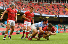 Wales held to draw by 14-man Argentina in Cardiff