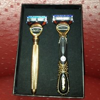 Ryan Lochte got these gold-plated, diamond-encrusted razors for winning five Olympic medals