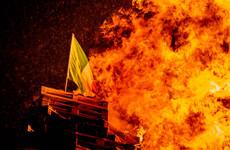 Unionist leaders criticise burning of Irish tricolour flags on Eleventh Night bonfires