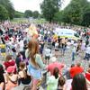 Protest outside Áras an Uachtaráin against vaccines and new Covid-19 legislation