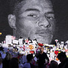 Police do not believe abusive graffiti on Marcus Rashford mural was of racial nature