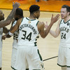 Antetokounmpo and Holiday combine as Bucks close in on first NBA title in 50 years