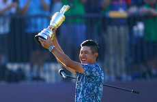 American Collin Morikawa seals thrilling two-shot victory on Open debut