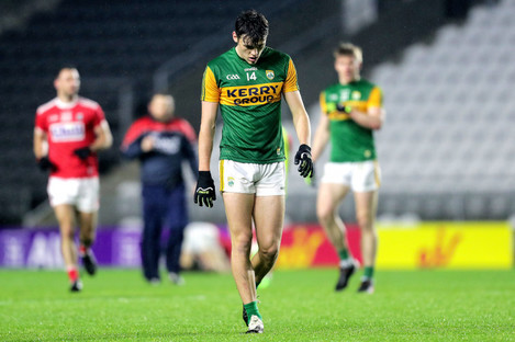 Kerry's David Clifford dejected after the 2020 Munster SFC semi-final.