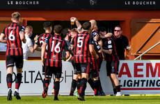 Tierney on target as Bohs claim advantage for return leg of crucial European clash