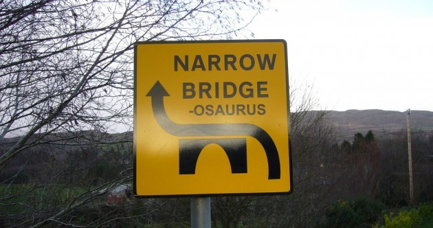 Prehistoric Road Sign of the Day