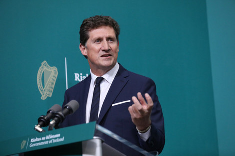 Minister Eamon Ryan publishing the draft of the Bill last year.