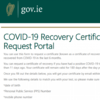 Government launches site to request Covid recovery cert - with incorrectly spelled URL