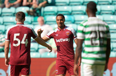 Celtic hit for six by West Ham at Parkhead