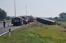 Ten killed, 45 injured as bus crashes off road in Croatia