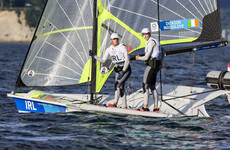 Irish sailing pair slip down rankings but remain well in contention for medal race