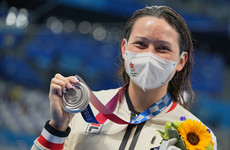 Charlie Haughey's grand-niece wins Hong Kong's first Olympic swimming medal