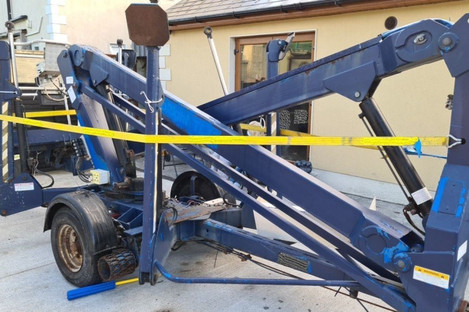 A cherry picker seized by the Criminal Assets Bureau this morning.