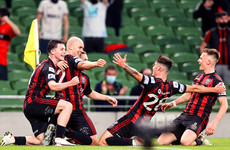 Georgie Kelly at the double as Bohs cruise on another famous European night
