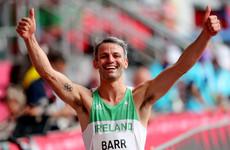 Thomas Barr advances to semi-finals of 400m hurdles