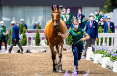 Ireland's eventing team in 13th place following dressage phase