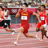 Bingtian runs Asian record to book 100m final spot while US medal hopeful bows out