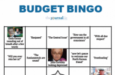 Presenting TheJournal.ie's exclusive Budget Bingo