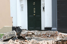 Decorative parts of four Bray buildings collapse