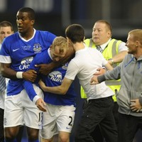 VIDEO: Tony Hibbert finally scores for Everton