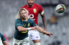 Big blows for Springboks as De Klerk and Du Toit ruled out of Lions decider