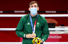 Ireland's Aidan Walsh presented with Olympic bronze medal