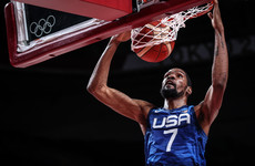 Durant scores 23 points to help three-time defending champions USA into Olympic semi-finals