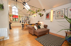 Charming townhouse with unusual 'upside-down' interior design for €210k