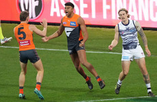Former Derry star Callum Brown marks AFL debut with two goals
