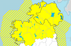 Status Yellow rain and thunderstorm warning in place for several counties