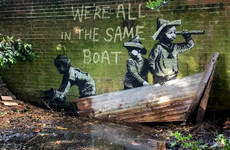 Potential Banksy artwork appears in English town